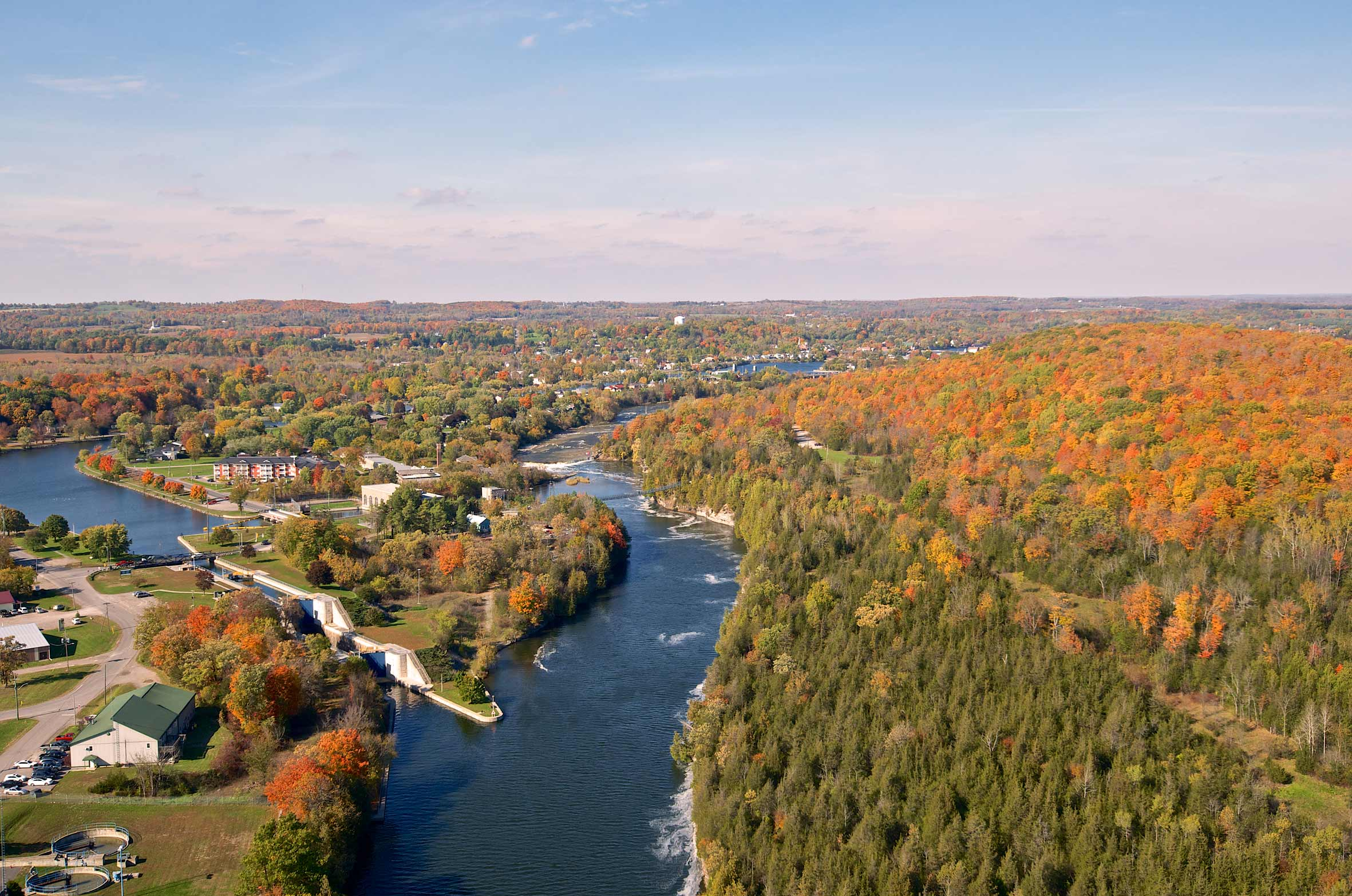 Aerial of Campbellford Ontario
