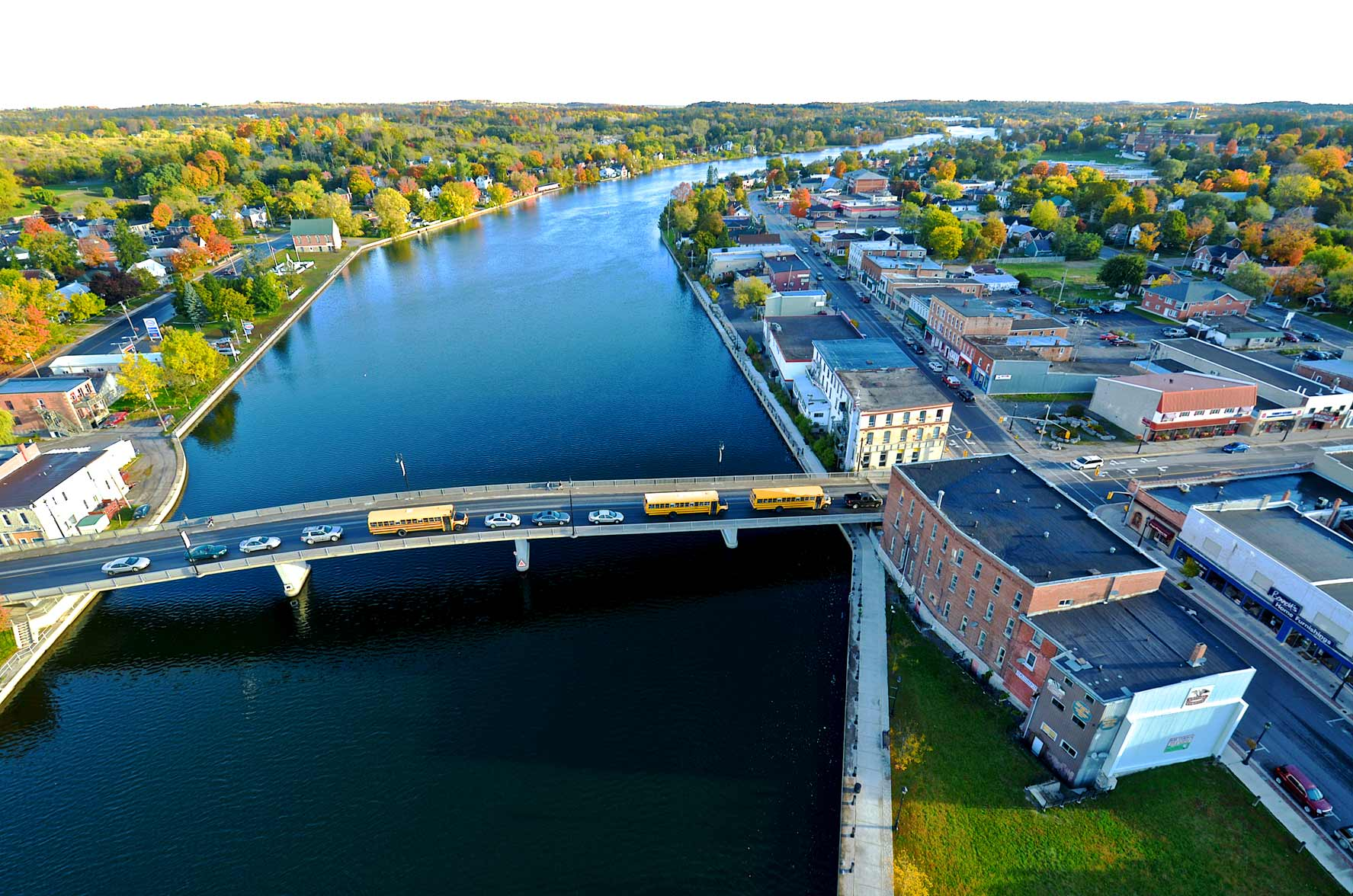 The Trent River in Campbellford