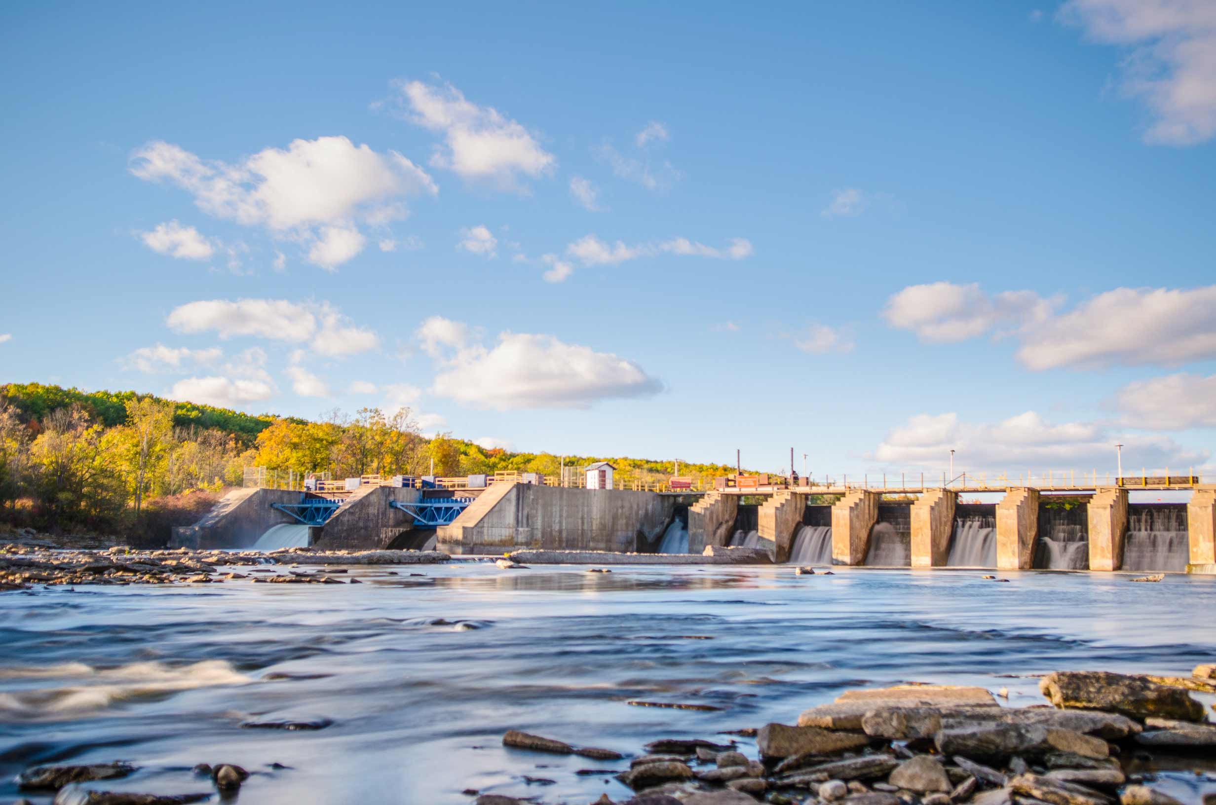 The Trent River dam and locks in Campbellford