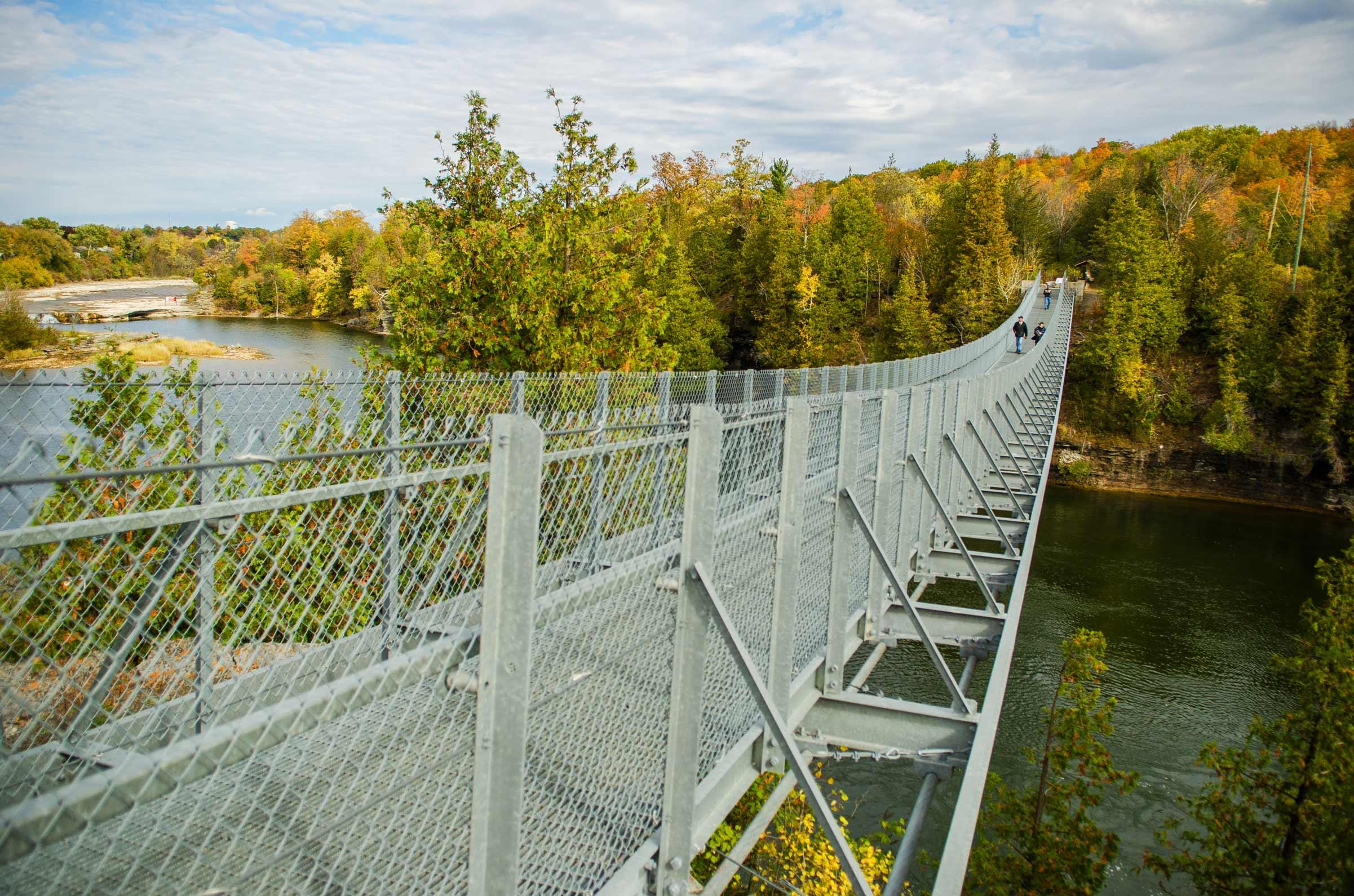 Suspension bridge in Campbellford