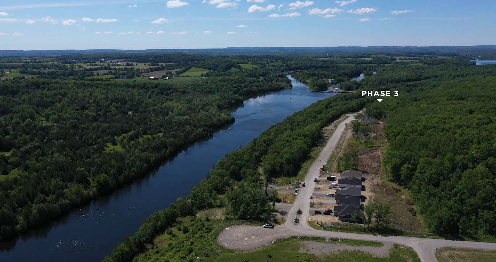Haven on the Trent River Aerial Showing Phase 3